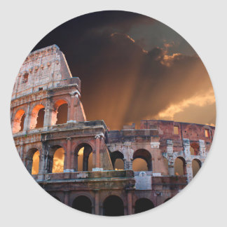 The Coliseum of Ancient Rome Classic Round Sticker