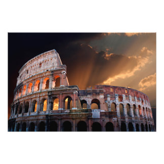 The Coliseum of Ancient Rome Photo Print