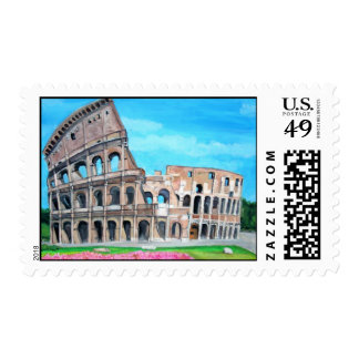 The Coliseum Painting Postage