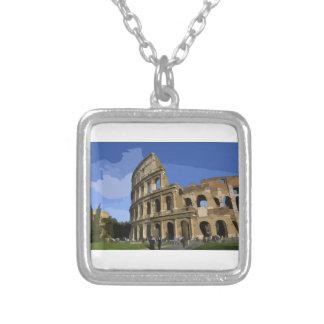 The Coliseum Square Pendant Necklace