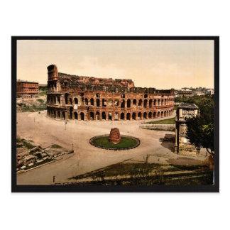 The Colisuem and Meta Sudans, Rome, Italy vintage Postcard