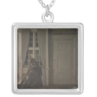 The Collector of Coins, 1904 Silver Plated Necklace