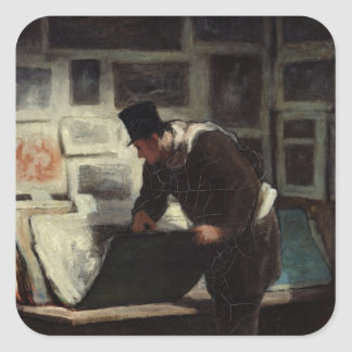 The Collector of Engravings, c.1860-62 Square Sticker