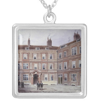 The College of Advocates, Doctors' Commons, 1854 Silver Plated Necklace