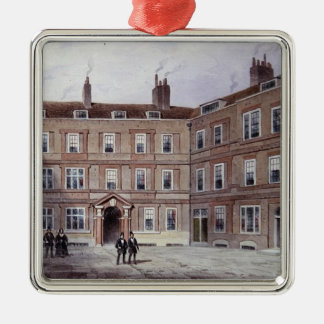 The College of Advocates, Doctors' Commons, 1854 Square Metal Christmas Ornament
