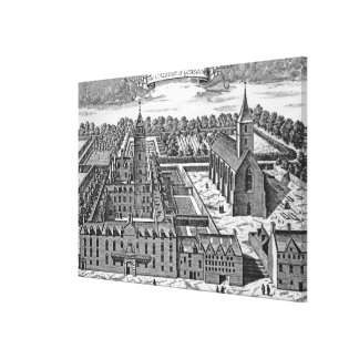 The College of Glasgow, from 'Theatrum Canvas Print