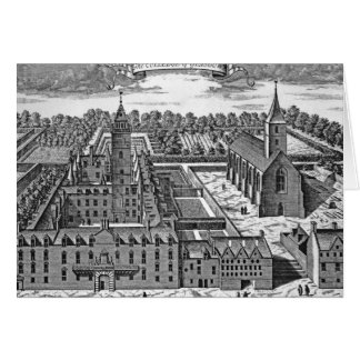 The College of Glasgow, from 'Theatrum Card