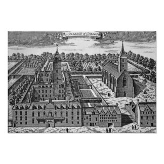 The College of Glasgow, from 'Theatrum Poster
