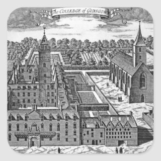 The College of Glasgow, from 'Theatrum Square Stickers