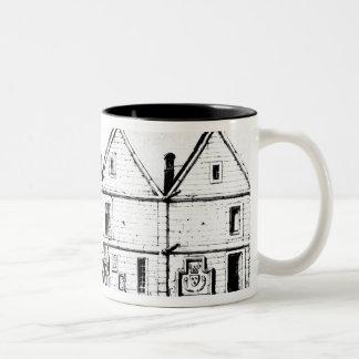 The College of Navarre in 1440 Two-Tone Coffee Mug