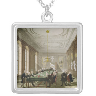 The College of Physicians Square Pendant Necklace