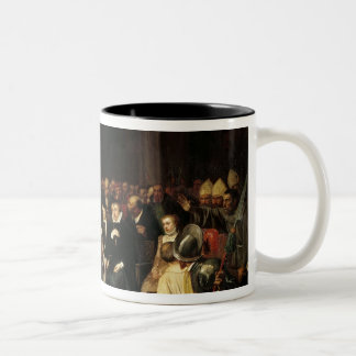 The Colloquy of Poissy in 1561, 1840 Two-Tone Coffee Mug