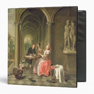 The Colonnade of a Country House with a Lady seate 3 Ring Binder