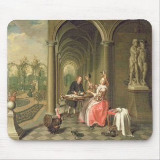 The Colonnade of a Country House with a Lady seate Mousepads
