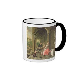 The Colonnade of a Country House with a Lady seate Coffee Mug