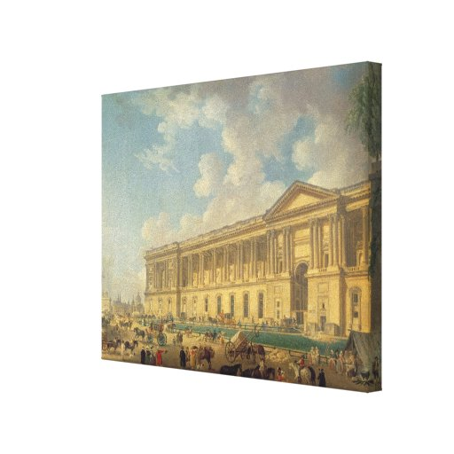 The Colonnade of the Louvre. c.1770 Canvas Print