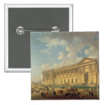 The Colonnade of the Louvre. c.1770 Pinback Button