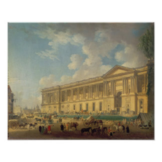 The Colonnade of the Louvre. c.1770 Poster