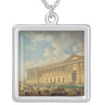 The Colonnade of the Louvre. c.1770 Square Pendant Necklace