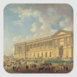 The Colonnade of the Louvre. c.1770 Square Sticker