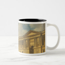 The Colonnade of the Louvre. c.1770 Two-Tone Coffee Mug