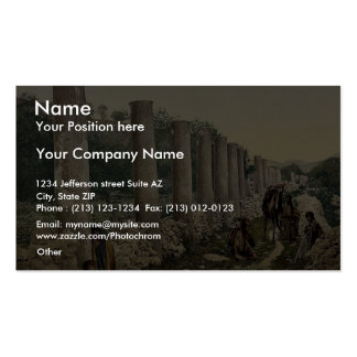 The colonnade, Samaria, Holy Land classic Photochr Business Cards