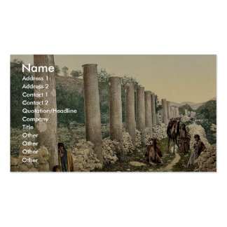 The colonnade, Samaria, Holy Land classic Photochr Business Card Templates