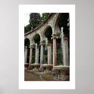 The Colonnade - Versailles Gardens Poster