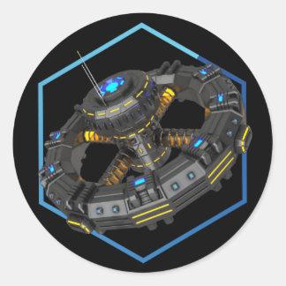 The Colony - Orbital Station Round Sticker Black