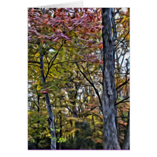The color in trees cards