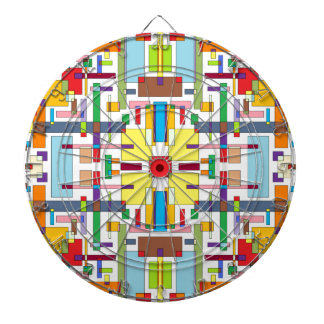 The Color of Emotion II - Color Art Dartboard With Darts
