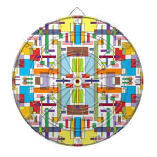 The Color of Emotion III - Color Art Dartboard With Darts