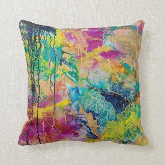 The Color Of Joy MaryLea Harris Art Throw Pillow
