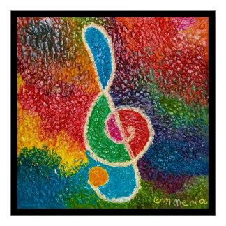 the color of music poster