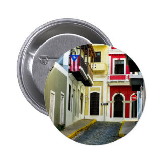 the color of old San Juan Puerto Rico 2 Inch Round Button