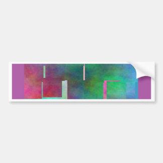 The Color Rainbow Digital Art Abstract Car Bumper Sticker