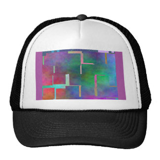 The Color Rainbow Digital Art Abstract Mesh Hat