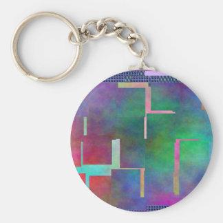 The Color Rainbow Digital Art Abstract Keychain
