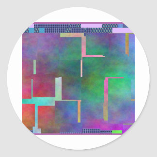 The Color Rainbow Digital Art Abstract Classic Round Sticker