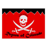 The Colorado Rogues Flag Poster