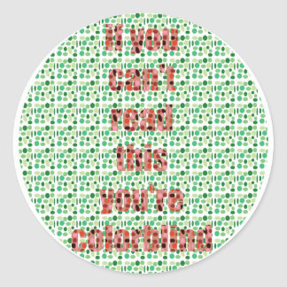 The Colorblind test Classic Round Sticker