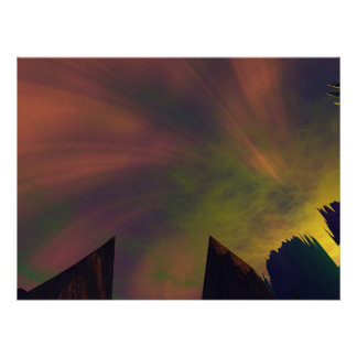 The Colored Sky Incedent Poster