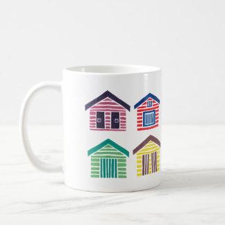 The Colorful Beach Houses Coffee Mug