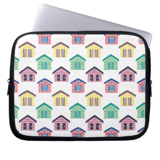 The Colorful Beach Houses Computer Sleeve