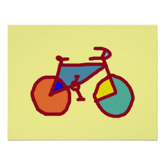 the colorful bicycle poster