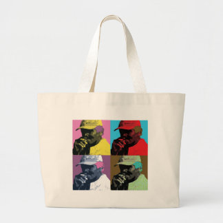 The colorful man large tote bag