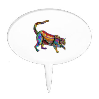 THE COLORFUL ONE CAKE TOPPER