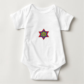 The Colorful star Baby Bodysuit
