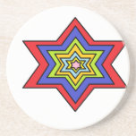 The Colorful star Drink Coaster