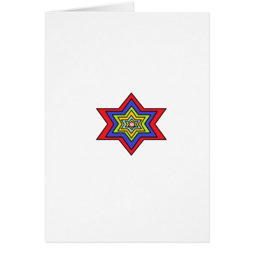 The Colorful star Greeting Card